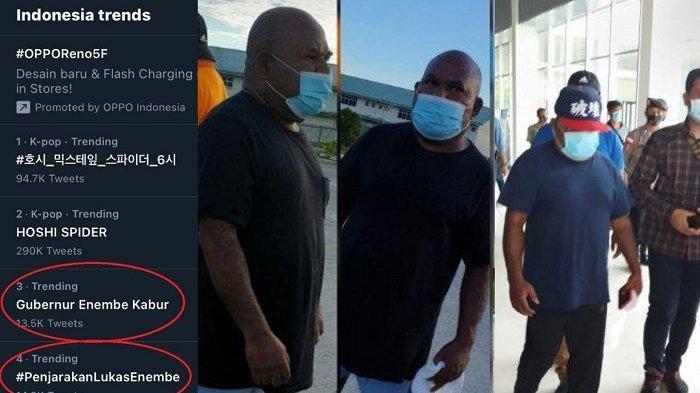 Gubernur Papua Lukas Enembe Trending Topik di Twitter Hari Ini, Buntut ke Papua Nugini Tanpa Dokumen