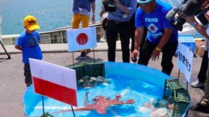 Setelah Ramal Jepang Kalah, Gurita Ini Dijadikan Sashimi