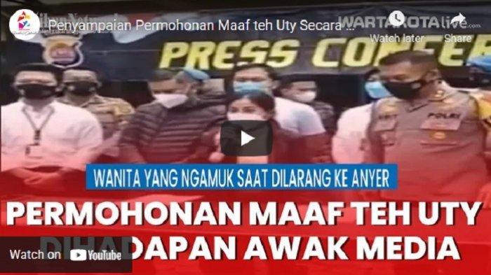 VIDEO Wanita yang Ngamuk saat Dilarang ke Anyer Minta Maaf Secara Terbuka Dihadapan Awak Media