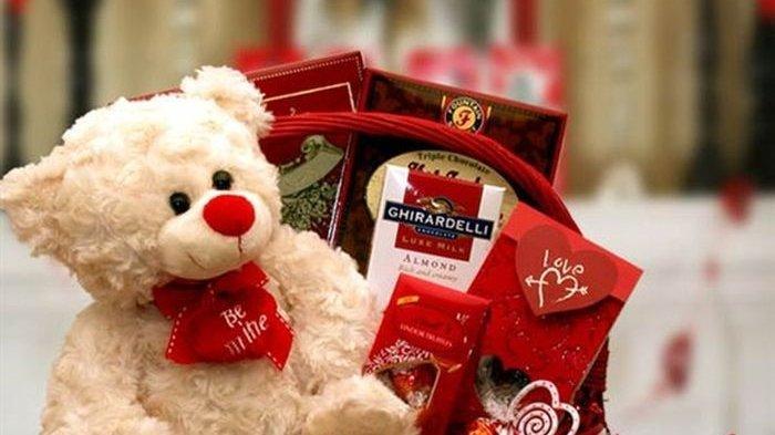 Ilustrasi hadiah valentine