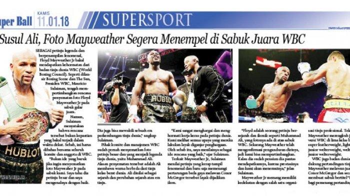 Foto Flyod Mayweather Diusulkan Menempel di Sabuk Juara WBC