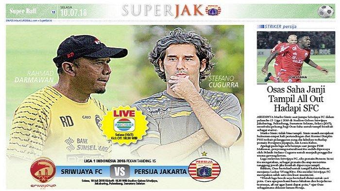 Persija Jakarta Siap Rebut Poin Penuh di Palembang