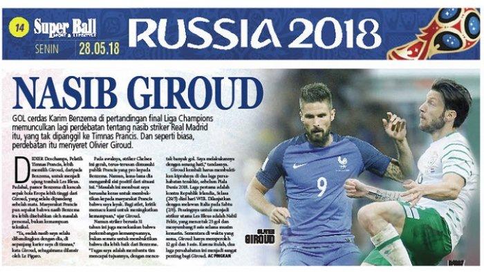 Olivier Giroud: Nasib Saya Selalu Dibandingkan dengan Karim Benzema