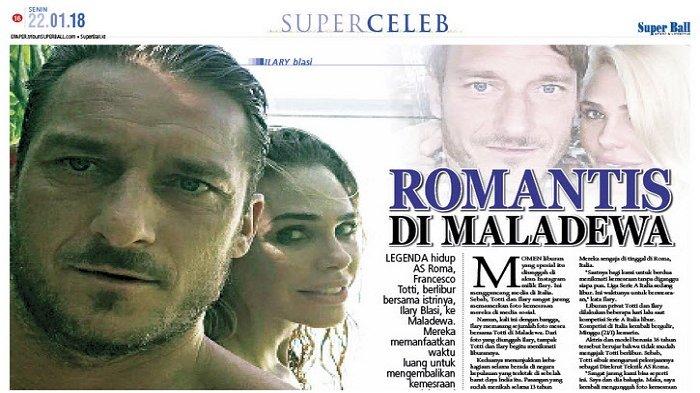 Francesco Totti dan Ilary Blasi Pamer Kemesraan