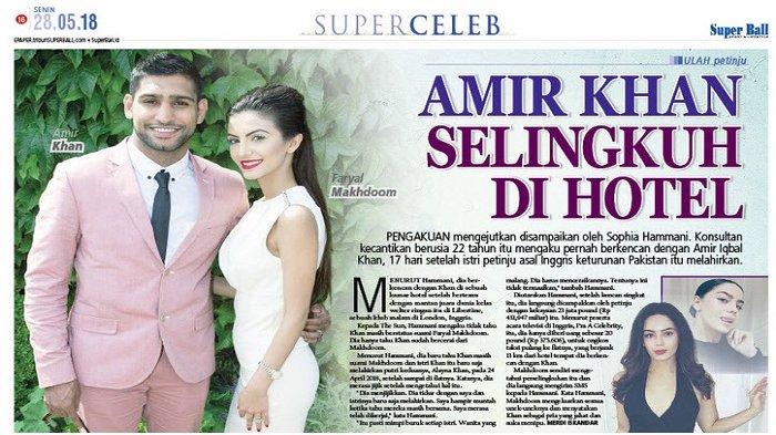 Amir Khan Ketahuan Selingkuh di Hotel