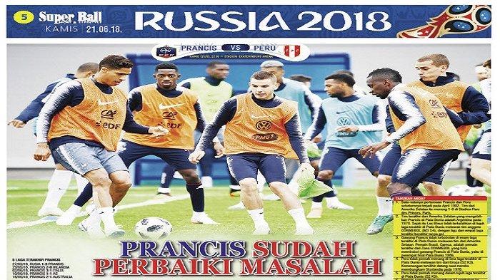 Raphael Varane Sebut Les Blues Sudah Perbaiki Masalah dan Siap Hadapi Peru