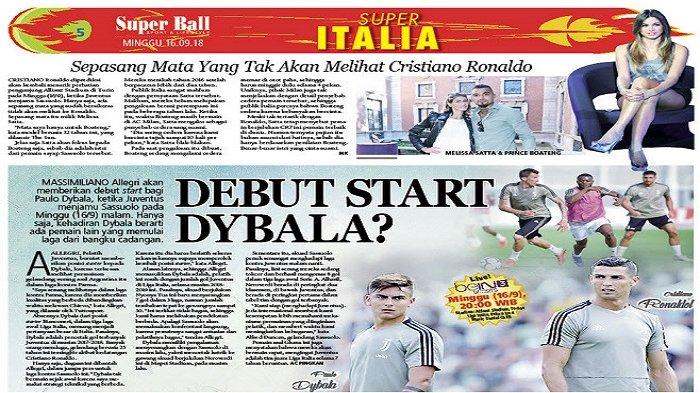 Paulo Dybala Bisa Debut Start di Laga Kontra Sassuolo?