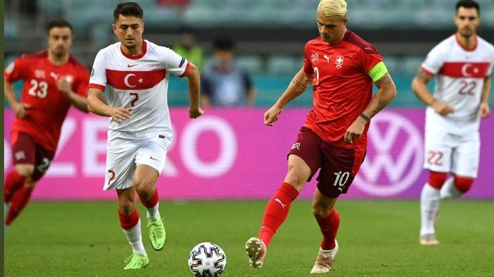 Sedang Berlangsung Italia vs Wales 0-0, Swiss vs Turki 1-0 Via Gol Kapten Haris Seferovic