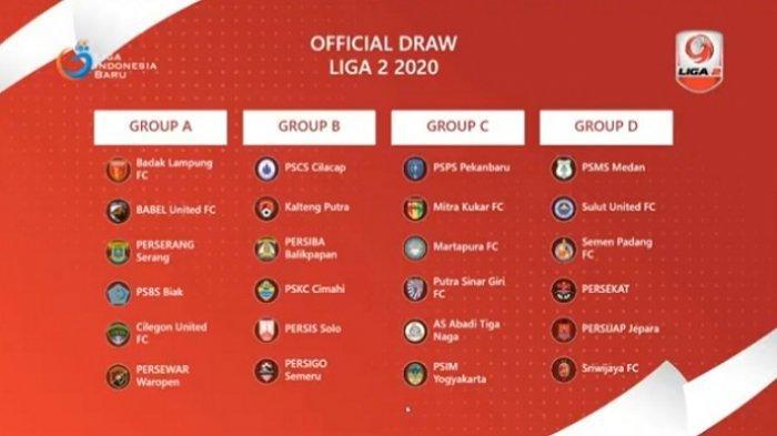 Hasil Lengkap Drawing Grup dan Tuan Rumah Liga 2 2020, Grup Ini Paling Berat