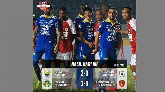 Klasemen Sementara Liga 1 2019, Persib Bandung Geser PSS Sleman dari Posisi Kedua