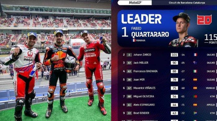 Klasemen dan Hasil MotoGP Catalunya 2021, Quartararo Gagal Naik Podium Tapi Tetap Memimpin Klasemen