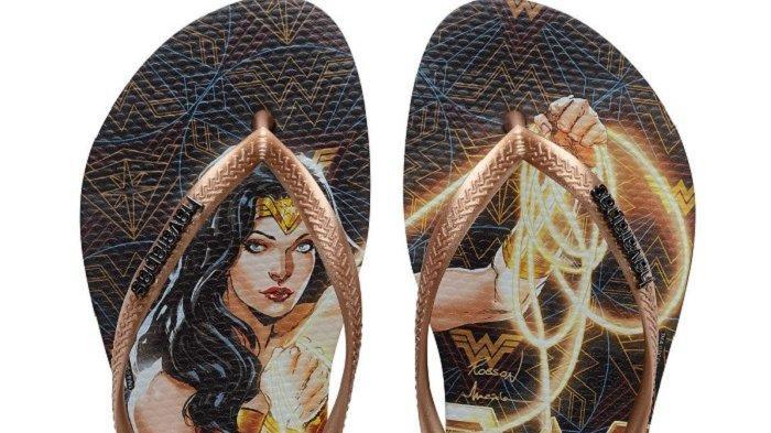 Koleksi terbaru sandal Havaianas diangkat dari film Wonder Women 1984.