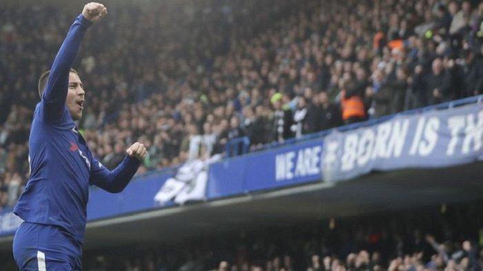Pekan Ke-15 Liga Inggris, Dua Gol Hazard Antar Chelsea Menang 3-1