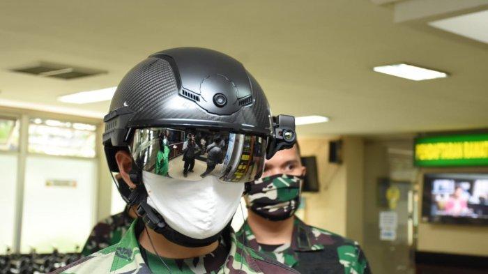 Deteksi Covid-19, TNI AD Pakai Helmet Thermal KC Wearable, Lebih Cepat dari Thermo Gun