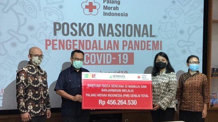 Lewat PMI Pusat, Herbalife Nutrition dan HNF Salurkan Bantuan Dana dan Logistik Pasca Bencana