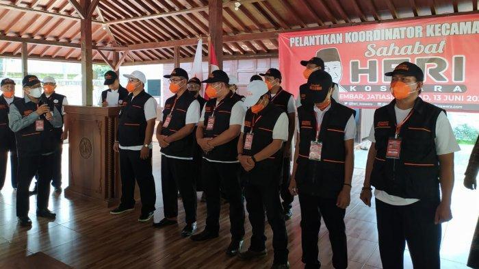 Siap Maju Sebagai Calon Wali Kota Kota Bekasi, Heri Koswara Lantik Relawan Sahabat Herkos