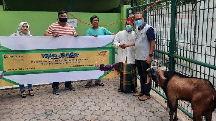 FIF Group Salurkan 537 Kambing dan 2 Sapi sebagai Hewan Kurban Idul Adha