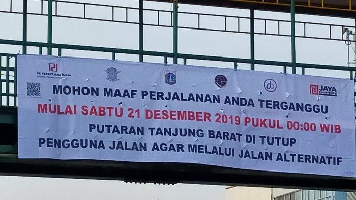 Sudinhub Jaksel Mengumumkan tentang Penutupan Jalan di Tanjung Barat dan Penutupan Putaran Arah