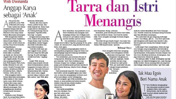Tarra Budiman dan Gya Sadiqah Menangis