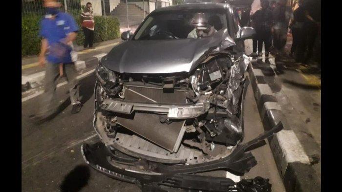 Kecelakaan Beruntun di Jalan Kebon Sirih, Honda HRV Tabrak Mobil Sedang Parkir, Tak Ada Korban Jiwa