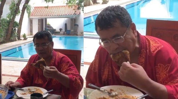 Takut Kena Virus Corona, Hotman Paris Sampai Pegang Ayam Goreng yang Dimakannya Pakai Tisu