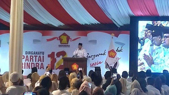Singgung Utang Kader Gerindra di Pilpres 2019, Prabowo: Pak Sandi Senyumnya Agak Ada Kecut-kecutnya