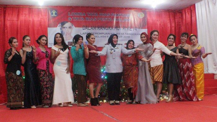 Lomba Tata Rias Wajah dan Busana Semarakkan Perayaan Hut RI Ke 74 Di LPP Kelas IIA Tangerang