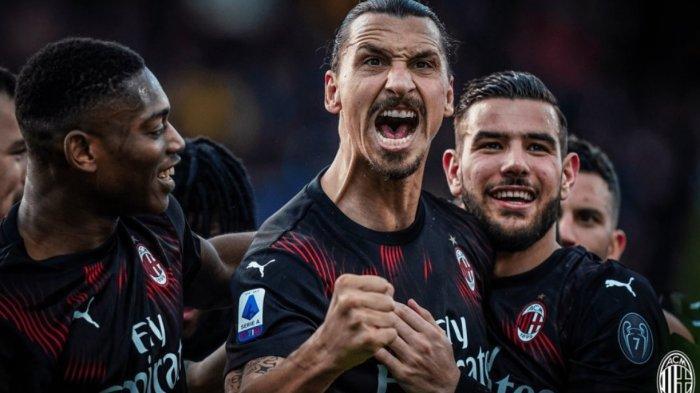 Hasil Babak Pertama Lazio vs AC Milan 0-2, Ibrahimovic Satu Gol dan Satu Assist, via Live Streaming