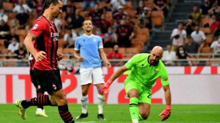 Kalahkan Lazio 2-0, AC Milan Pimpin Klasemen, Ibra Cetak Satu Gol dengan Penampilan Rambut Barunya