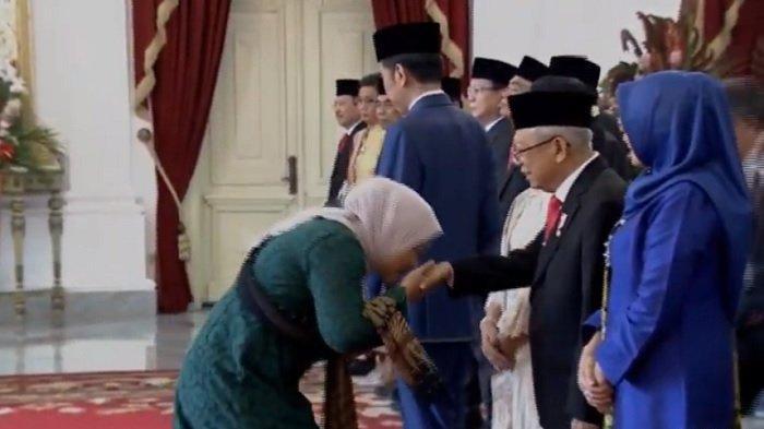 KEJADIAN MENARIK di Depan Presiden Jokowi: 3 Menteri Ini Tak Salami Wapres dan 3 Menteri Cium Tangan