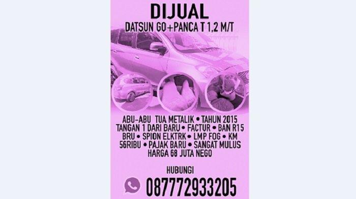 Jual Datsun Go+Panca T 1,2 M/T, Iklan Baris Online, Minggu 26 September 2021