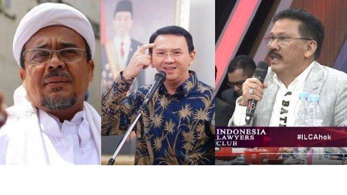 Ilham Bintang di ILC TvOne: Kenapa Ahok Dikasih Karpet Merah, Habib Rizieq Tidak?
