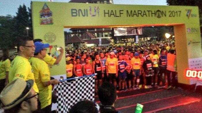 Peserta Mencapai 3000 Meramaikan BNI UI Half Maraton