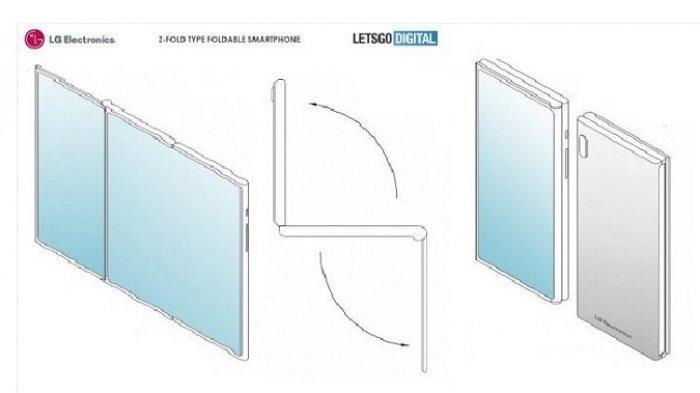 Di Tengah Pertarungan Samsung Vs Huawei, LG Patenkan Ponsel Lipat Besutannya, Ini Desainnya