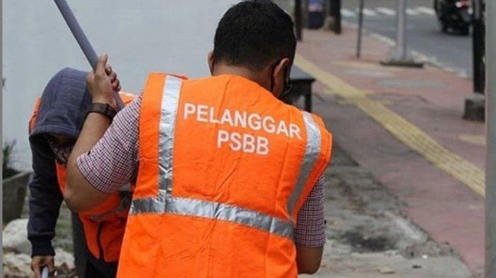 Melanggar PSBB, 300 Warga di Depok Dihukum Membersihkan Fasilitas Umum