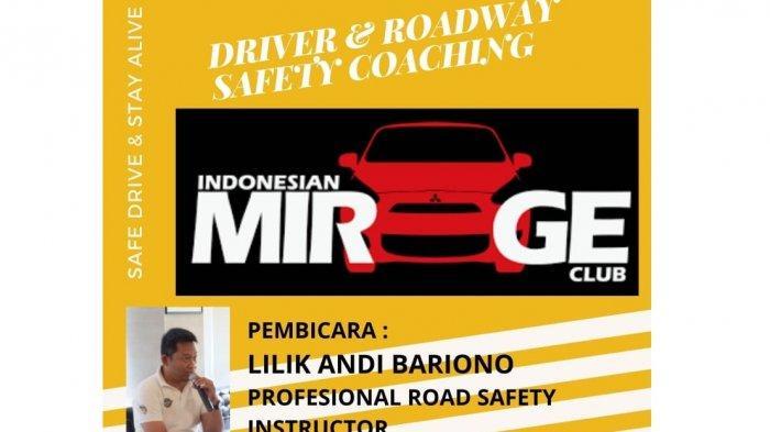 Indonesian Mirage Club (IMEC) Chapter Bekasi menggelar Driver & Roadway Safety Coaching, Minggu (11/10/2020).