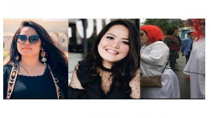 Sosok Indah Rizky Ariani alias Indah Mujyaer, Wanita Wig Merah yang Ikut Demo Menolak UU Cipta Kerja