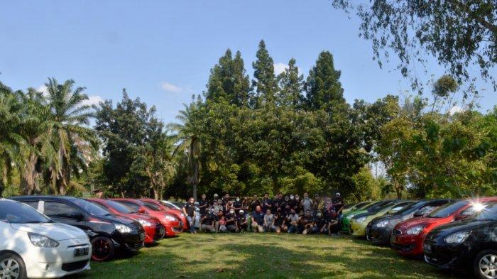 Mitsubishi Mirage Menyemut di Taman Wiladatika Cibubur, Ada IMEC Jabodetabekar Gelar Kopdargab 2020
