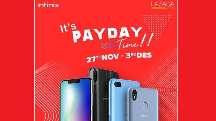 Sambut Harbolnas 12.12, Infinix Bersama Lazada Bikin Kejutan 'It`s PayDay Time!'