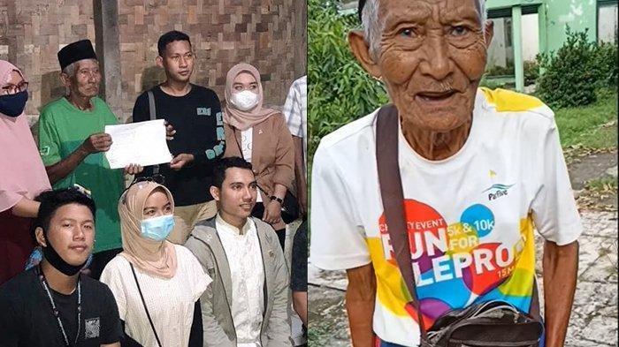 Kisah Kakek Sarman,Penjual Sapu Lidi yang Dicopet dapat Donasi Rp 35 Juta Langsung Disedekahkan Lagi