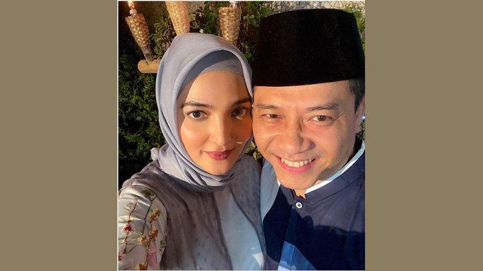 Ashanty saat merayakan delapan tahun pernikahannya dengan Anang Hermansyah, Selasa (12/5/2020).
