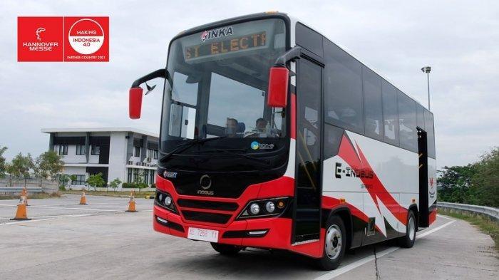 PT INKA Pamer Bus E-Inobus di Ajang Pameran Teknologi di Jerman