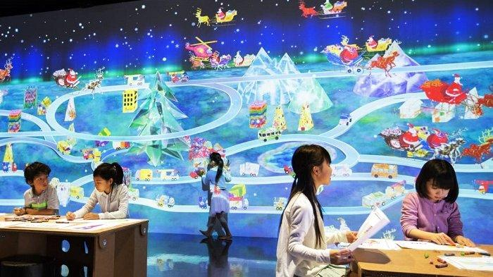 Instalasi Karya Digital Bertema Natal di TeamLab FuturePark