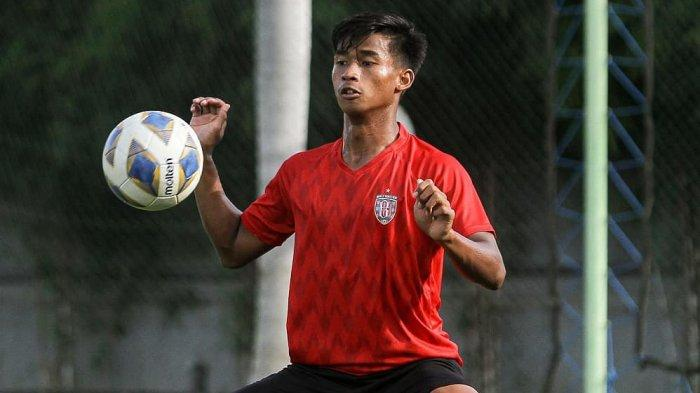 Irfan Jauhari salah satu pemain jebolan Bali United Youth yang membela Timnas U-19