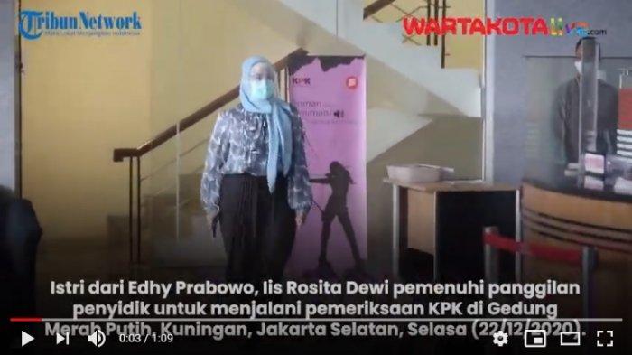 VIDEO Istri Edhy Prabowo, Iis Rosita Dewi Kembali Diperiksa KPK