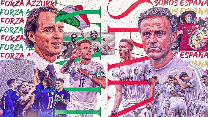 ITALIA Vs Spanyol, Prediksi Line Up Komentar Pelatih hingga LINK Streaming Piala Eropa 2020