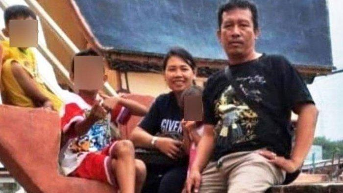 Foto kenangan driver ojol Iwan Suranta Nainggolan (43) dan keluarga. Iwan Nainggolan tewas diduga korban begal di Jalan T Amir Hamzah, Kelurahan Jati Utomo, Binjai Utara pada Sabtu (20/3/2021) dini hari.