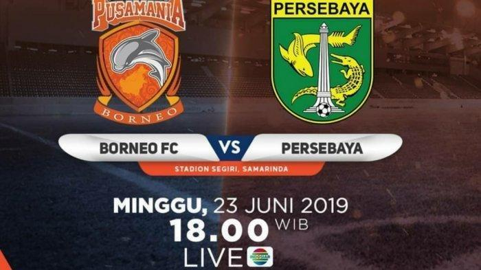 Sedang Berlangsung Live Streaming Indosiar dan Vidio.com Liga 1 2019 Borneo FC Vs Persebaya Surabaya