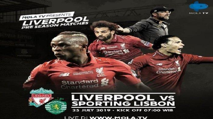 Live Streaming Liverpool Vs Sporting Lisbon di Mola TV, Main Kamis Pukul 07.00 WIB