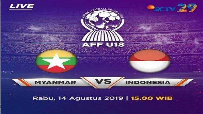 SEDANG BERLANGSUNG, Timnas Indonesia Vs Myanmar AFF U18 2019, Menit Ke-50 Timnas Kebobolan